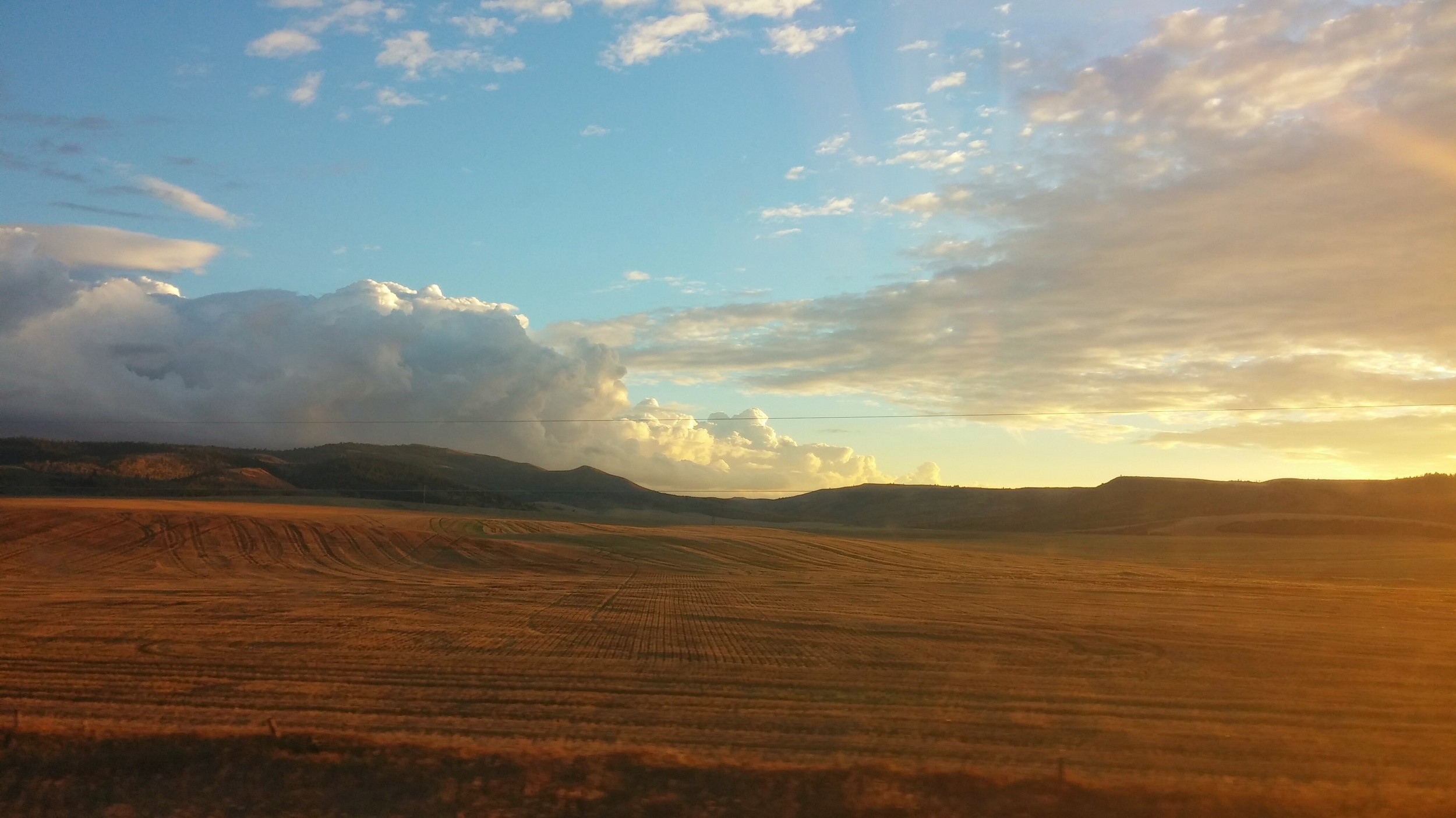 So much of our journey has been driving by wide open spaces in God's country!