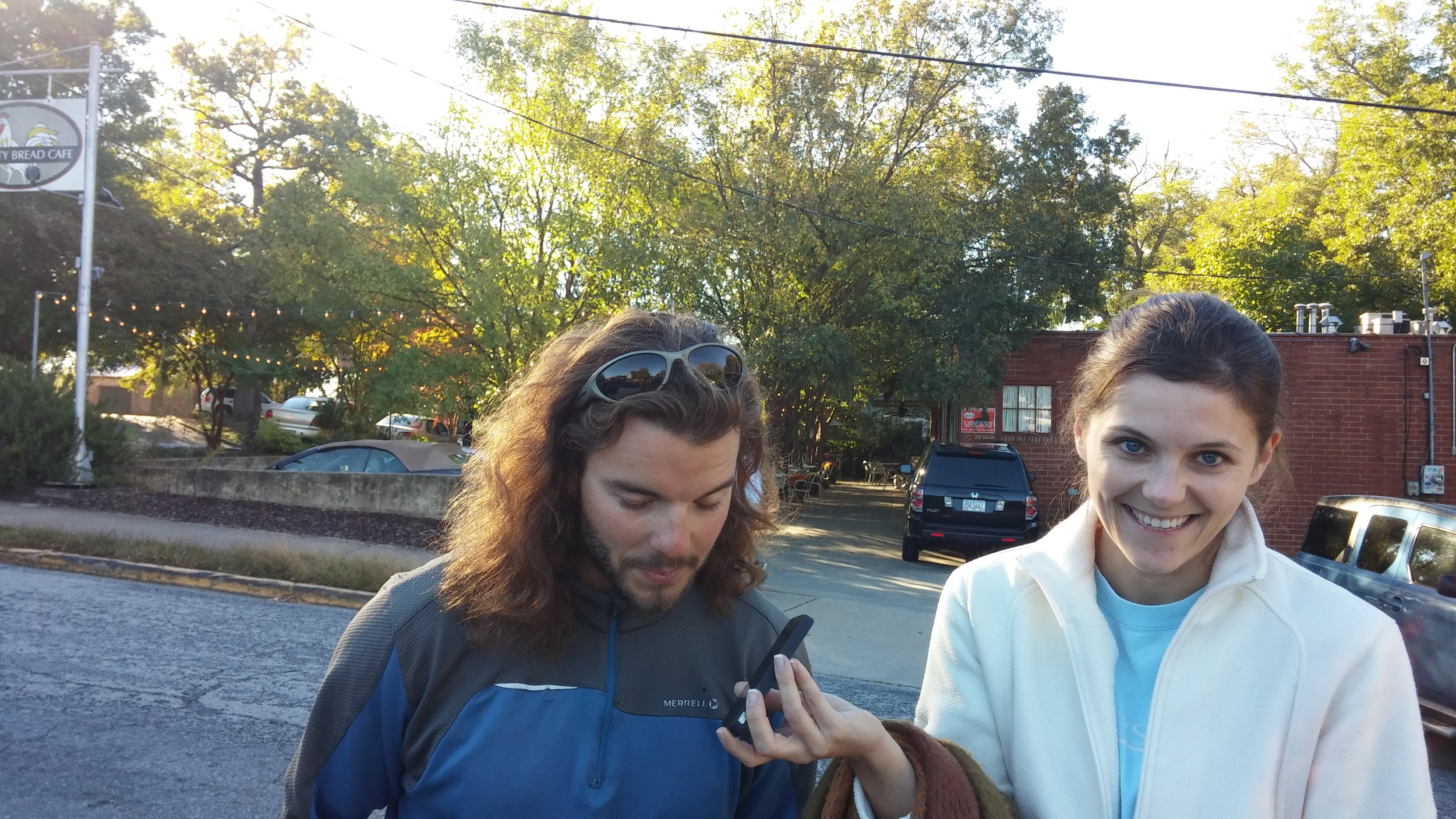 Calling Dan Fran in China with Ashley in Athens, GA!