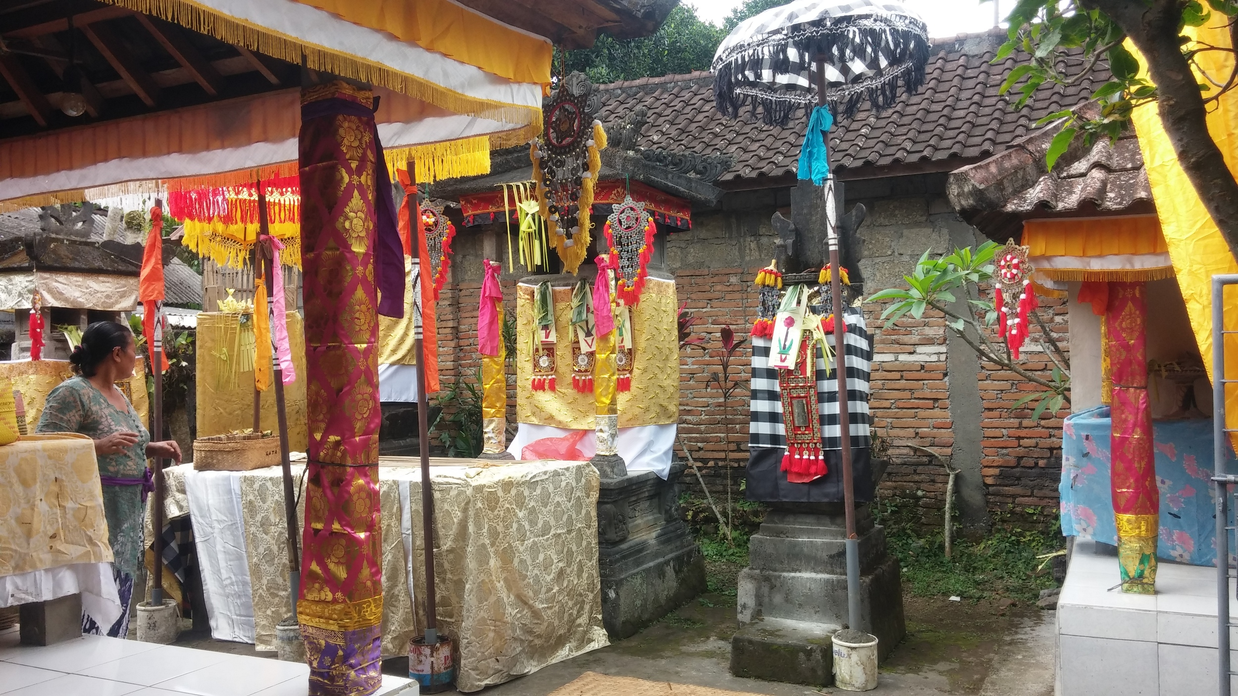 The family temple decorated for the second ceremony.