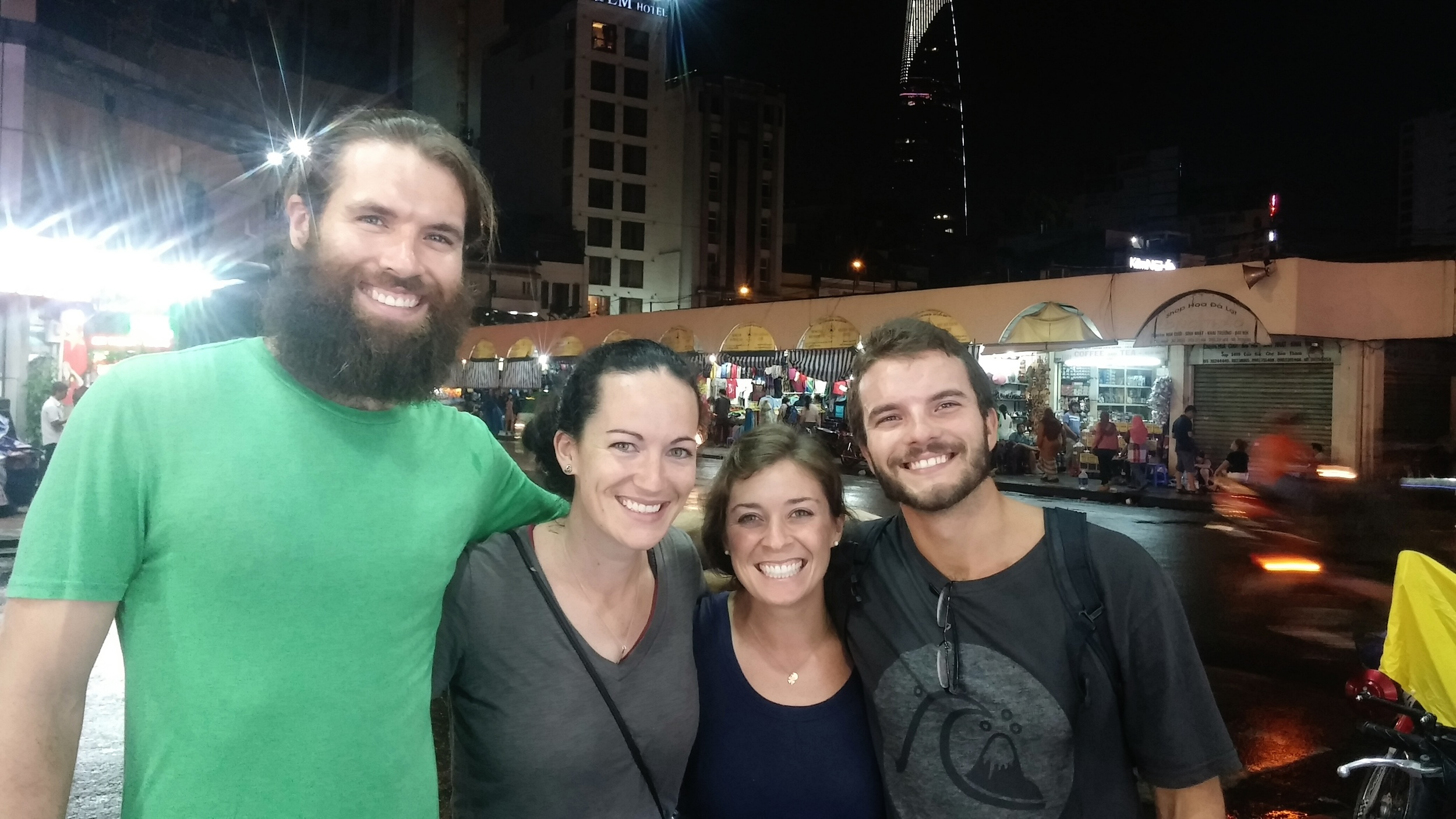 With Adam and Karen in Ho Chi Minh City, Vietman. We feel like we've known them forever!