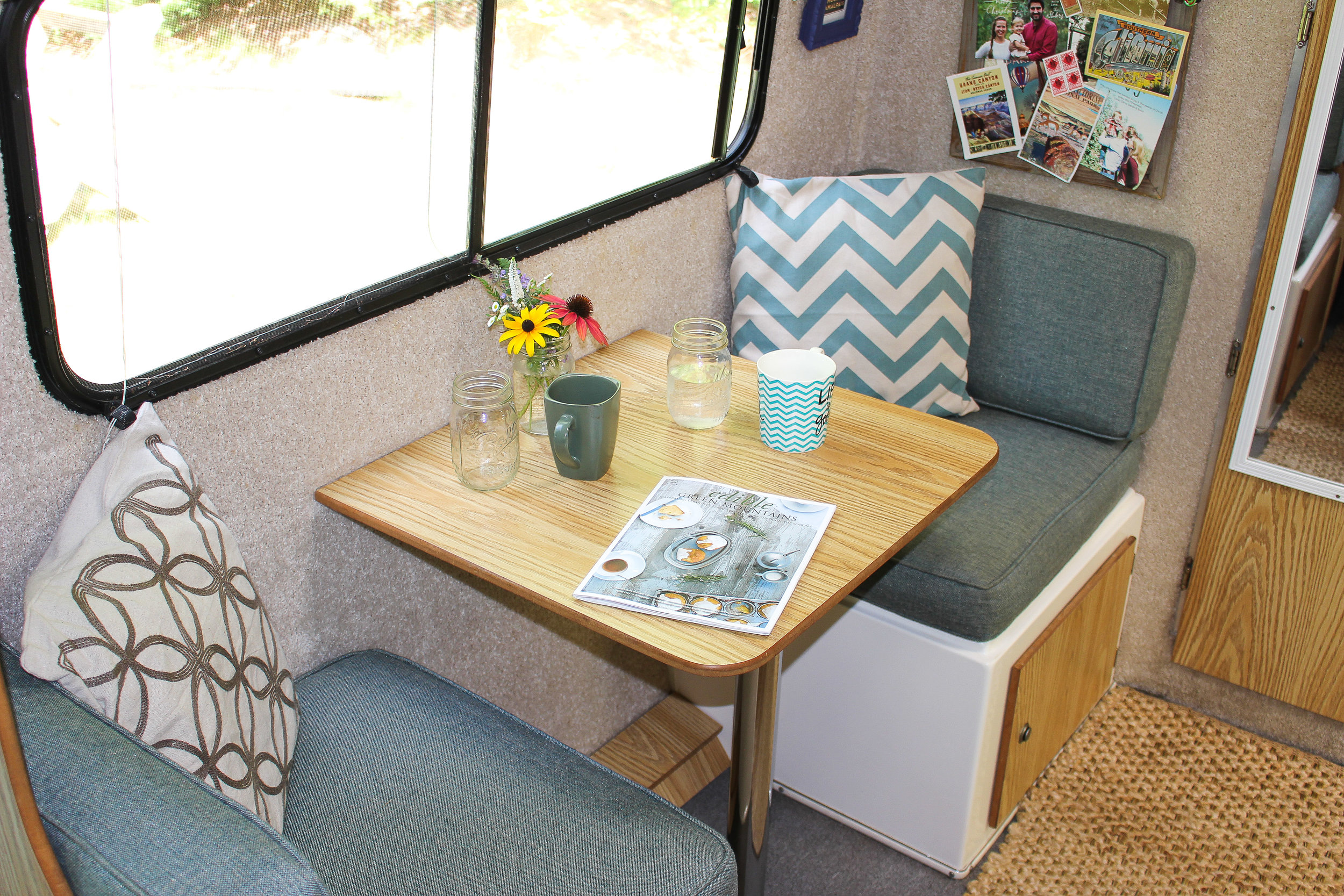 The breakfast table nook.