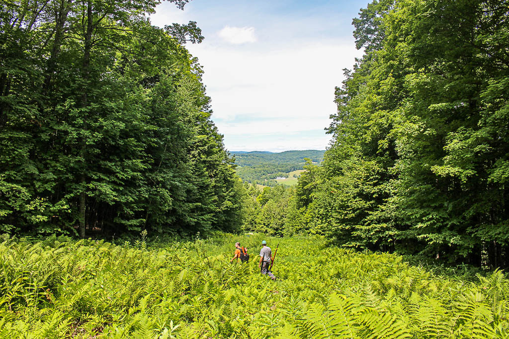 View from Mount Ascutney, Vermont with Jim and Steve on Ascutney Trails.