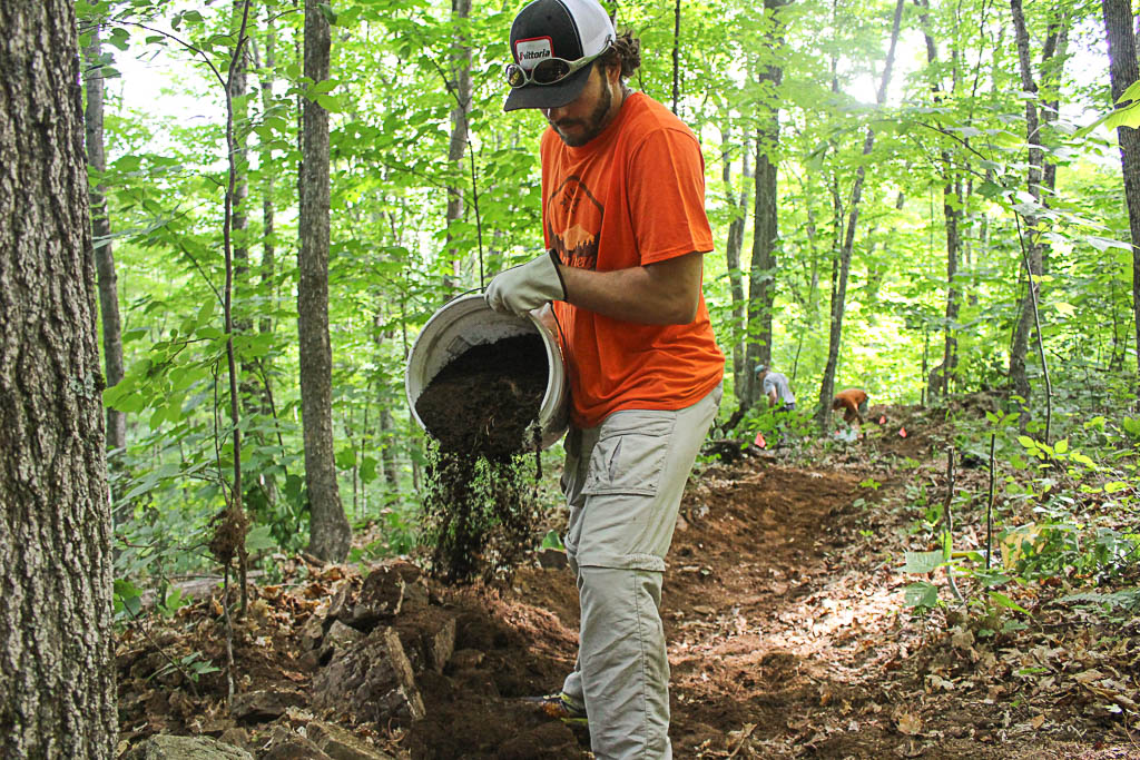 Nuventure Travels. #nuventures. Ascutney Trails Vermont. Trail Work. How to Meet New People While Traveling Full Time