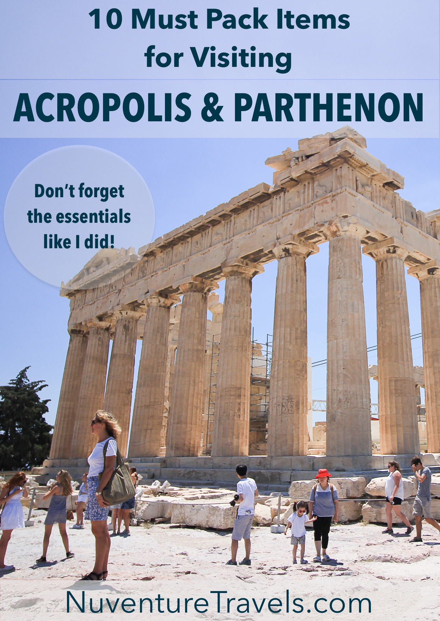 10 Must Pack Items When Visiting the Acropolis and Parthenon: Essential Gear