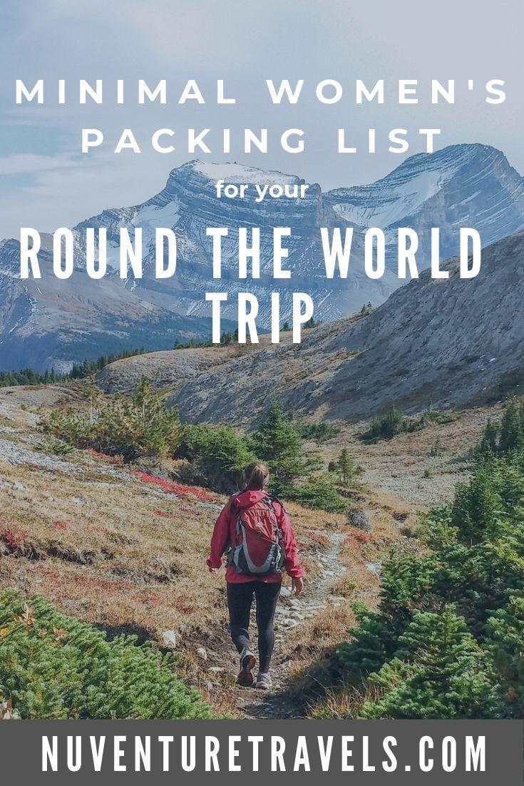Minimal Womens Packing List for Round The World Trip, RTW Trip. NuventureTravels.com
