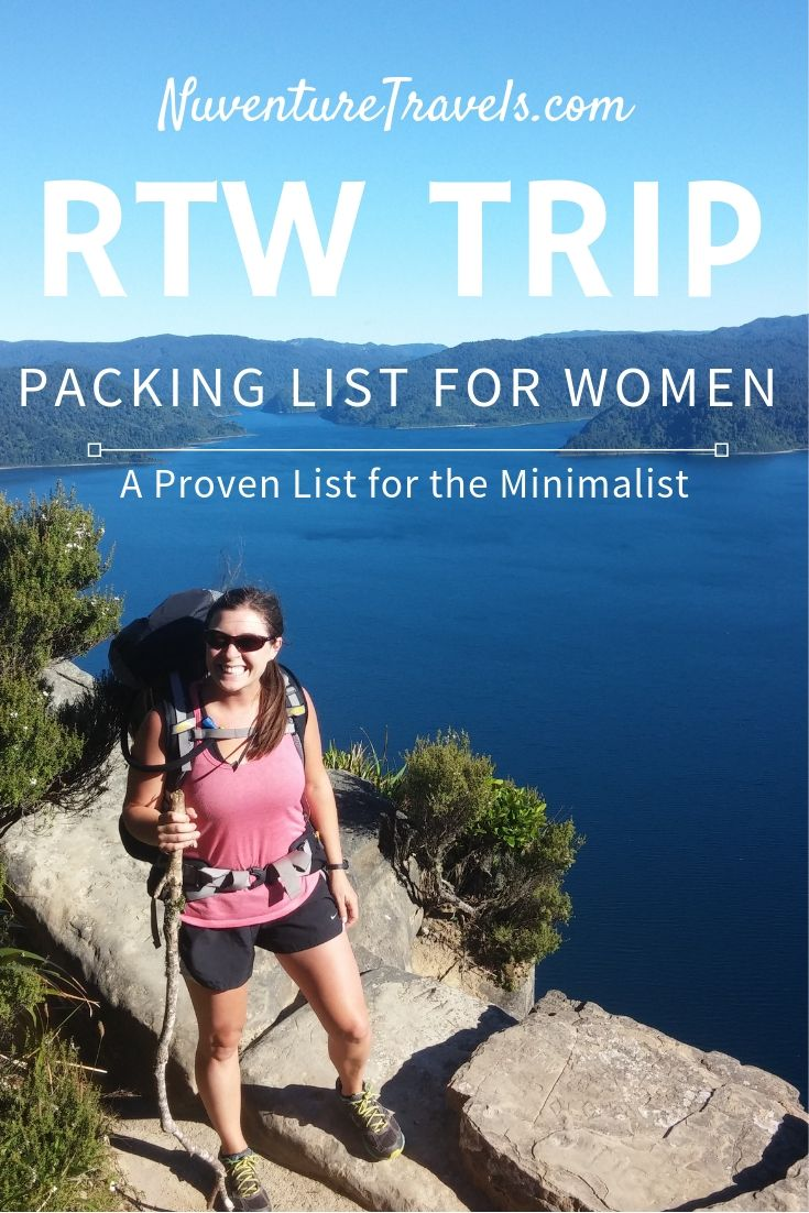 RTW Packing List for Women. NuventureTravels.com