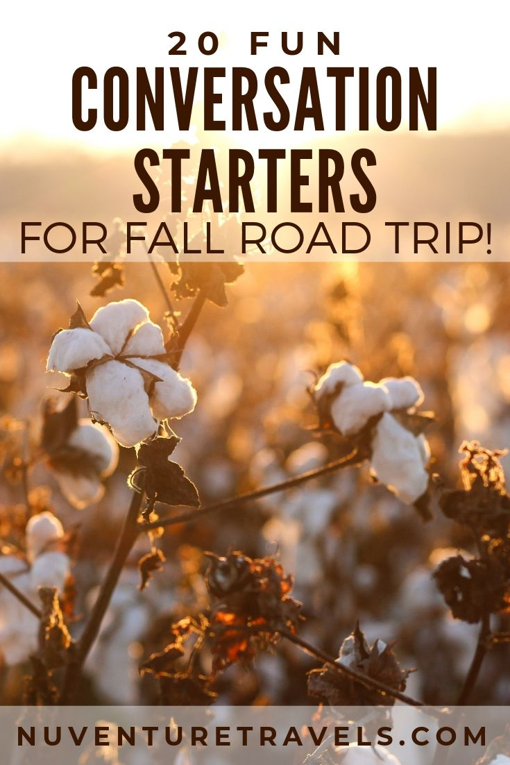 20 Fun Autumn and Fall Questions, Conversation Starters, and Trivia for Travel. NuventureTravels.com