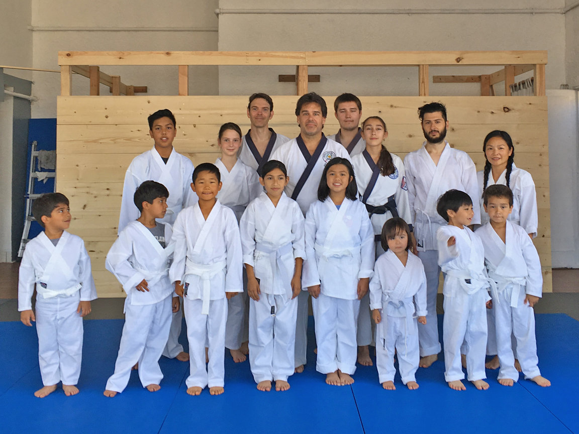 We are growing!  Family karate class.