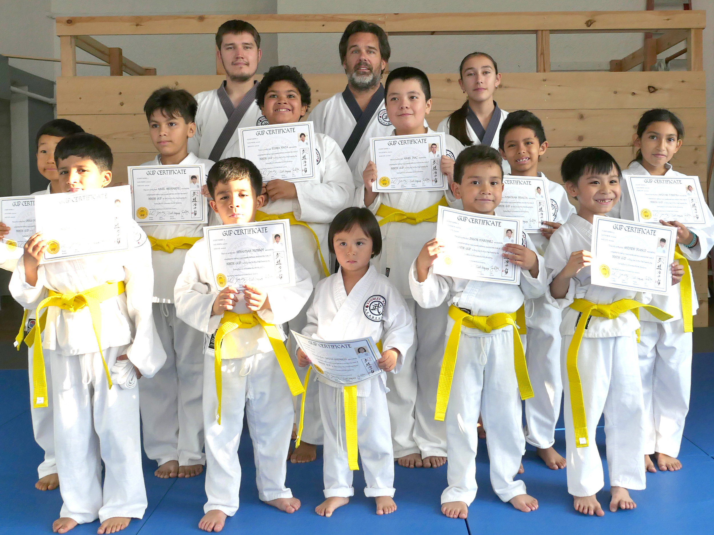 Congratulations yellow belts!