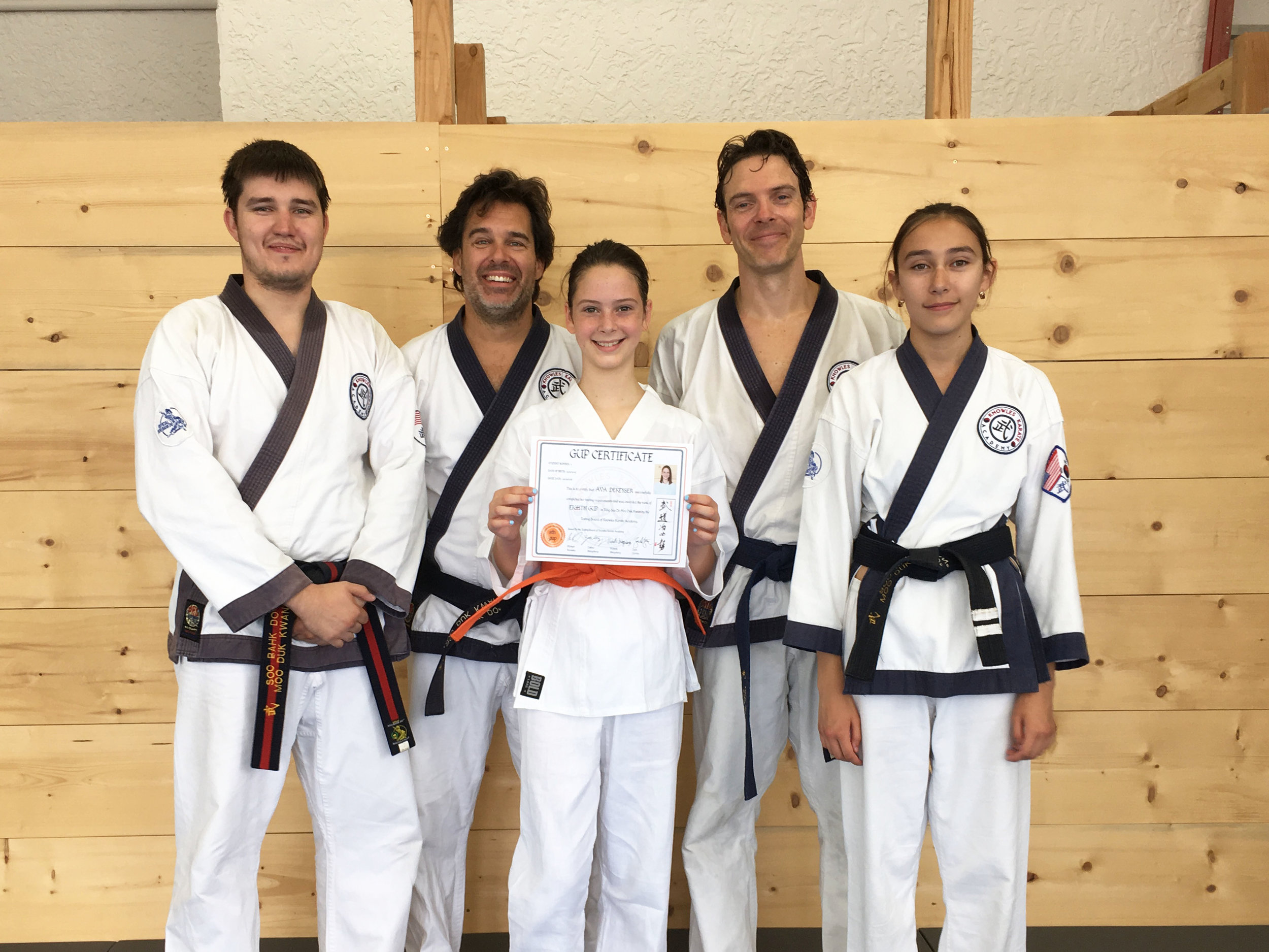Congrats to our first orange belt!