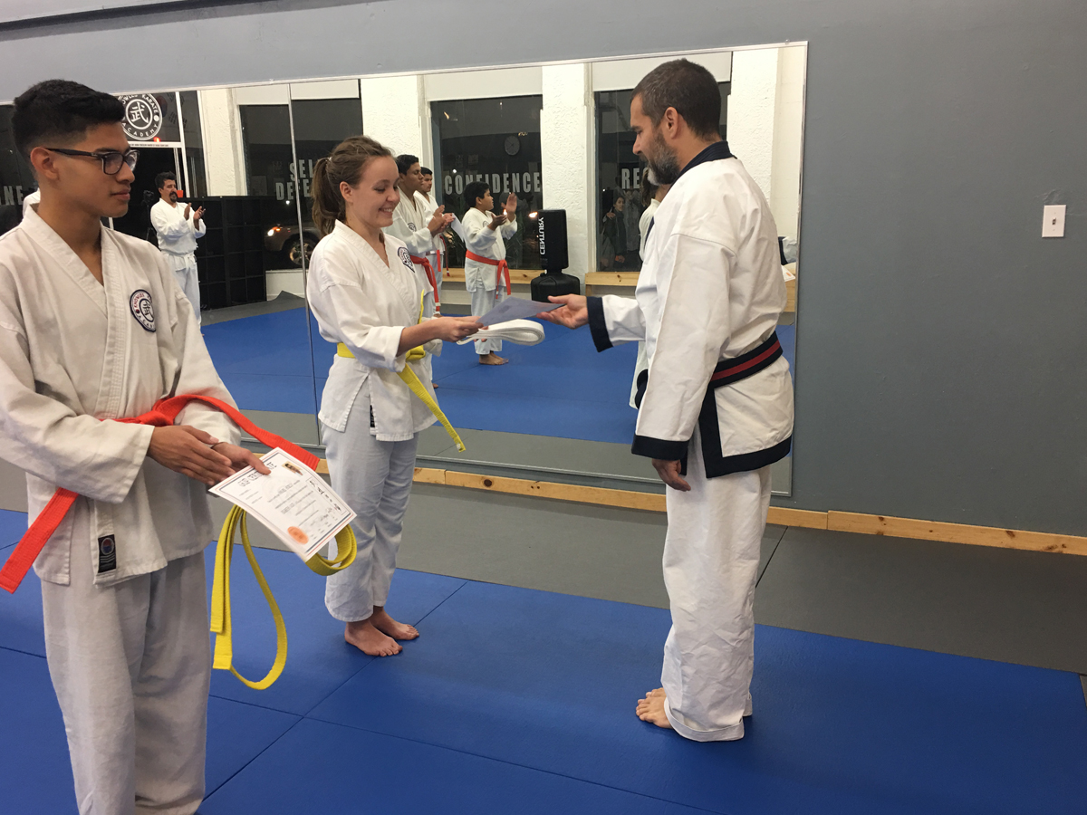 New adult yellow and orange belts