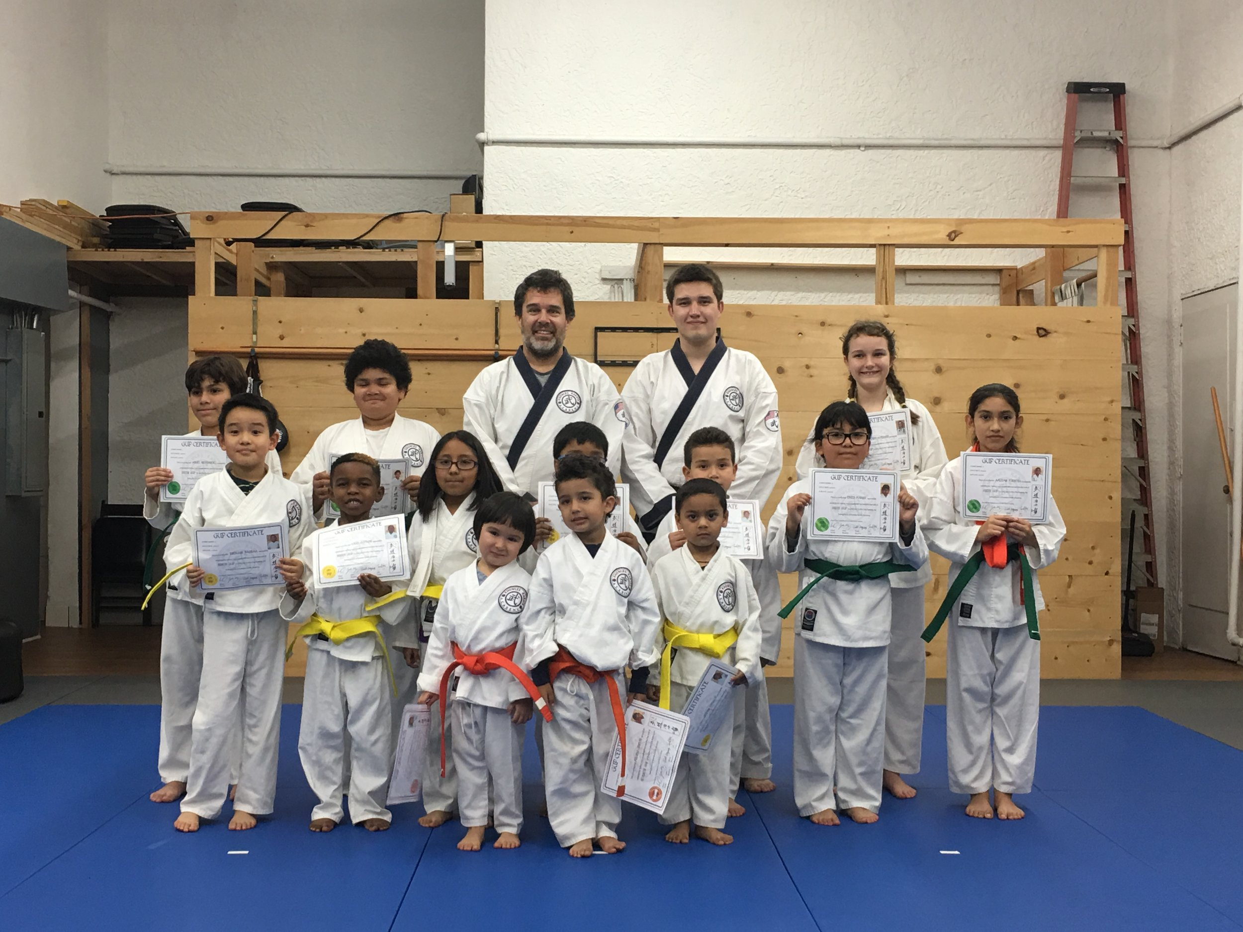Kids Belt Ceremony - congratulations!