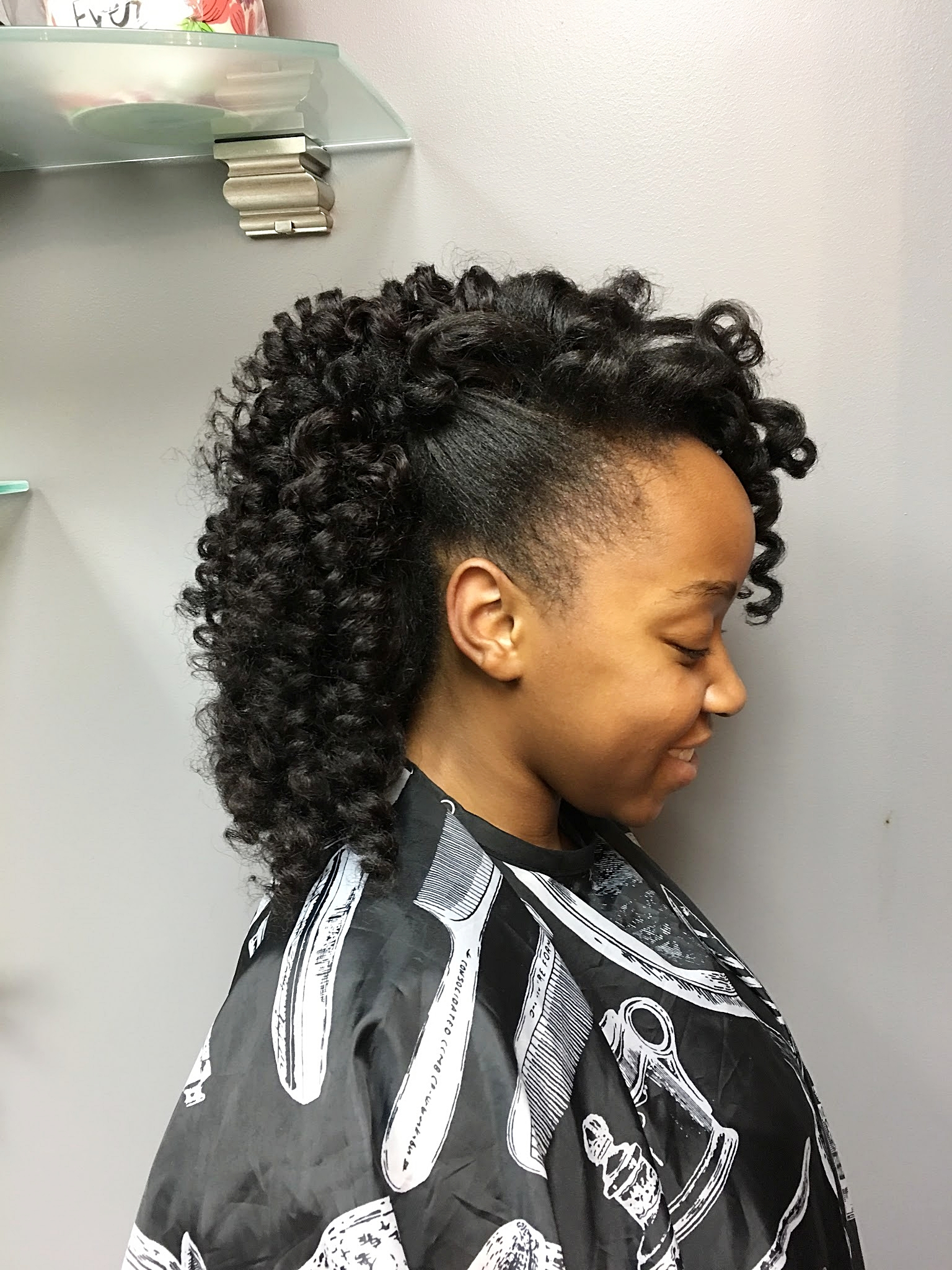 Partial Sew in Extension With Minimal Natural Hair Left Out