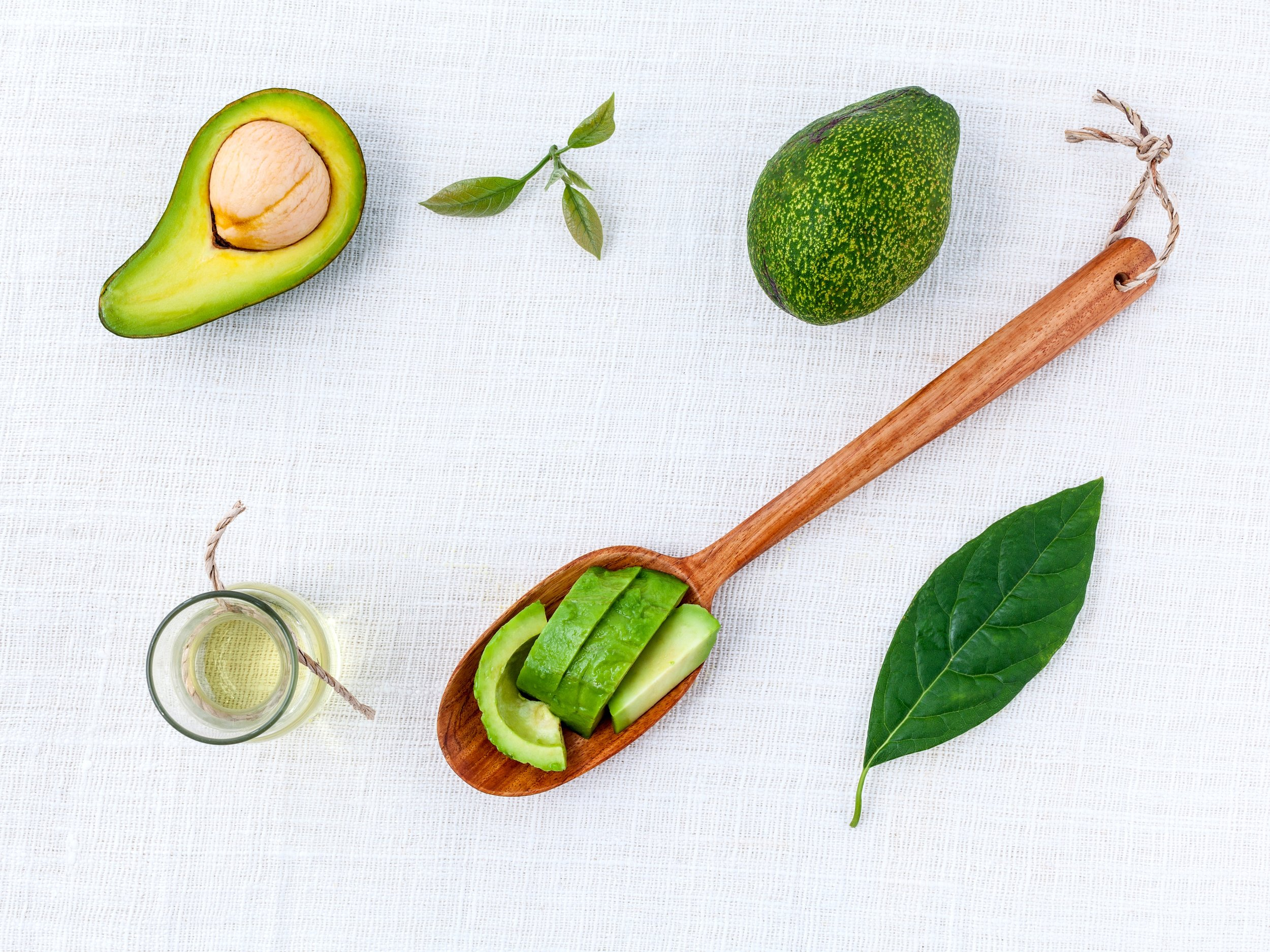 AVOCADO HOT OIL TREATMENT   AVOCADO OIL IS USED TO STIMULATE HAIR GROWTH.  IT IS EXCELLENT FOR RESTORING DEHYDRATED, AGING, SUN-DAMAGED HAIR.