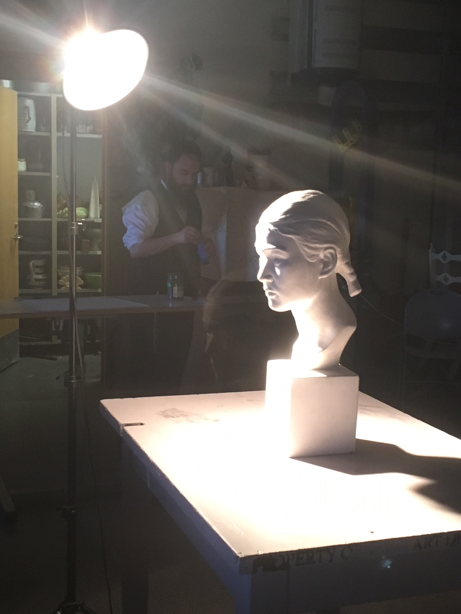 Drawing 1 & 2 students can choose to practice drawing facial anatomy by drawing a plaster bust or a self-portrait from a mirror.
