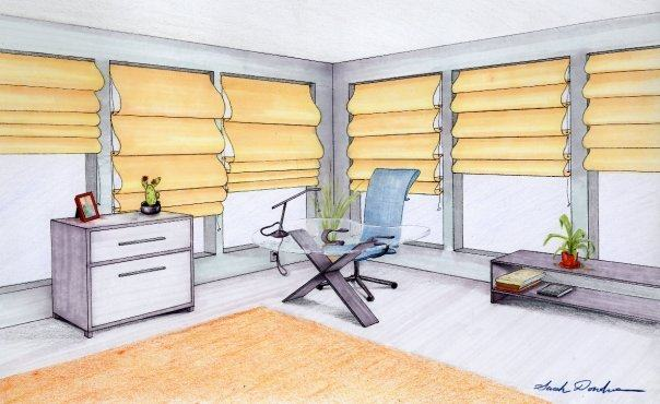 Office Design, Prisma markers and pencils, 2008.