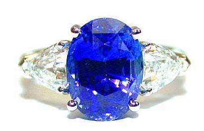 Unheated Sapphire and Diamond Ring