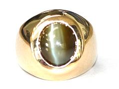 Catseye Chrysoberyl Gents Ring