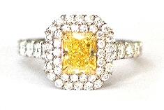 Yellow Diamond & Diamond Ring