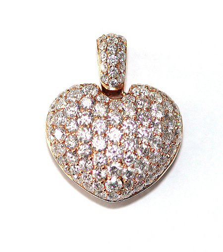 Diamond Covered Heart Pendant
