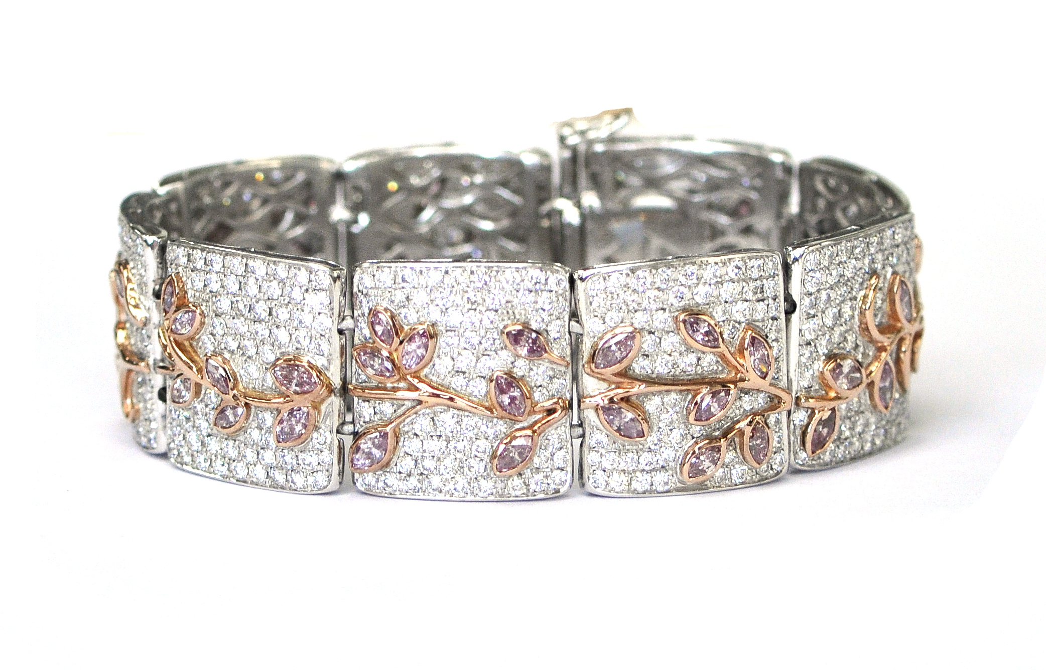 Pink & White Diamond Bracelet