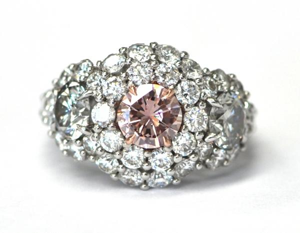 Pink & Gray Diamond Ring