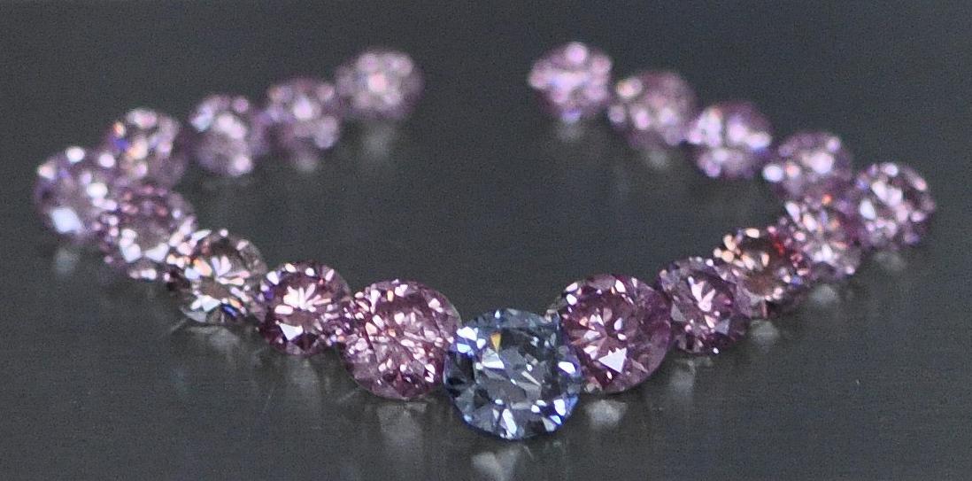 Blue and Pink Diamond Layout