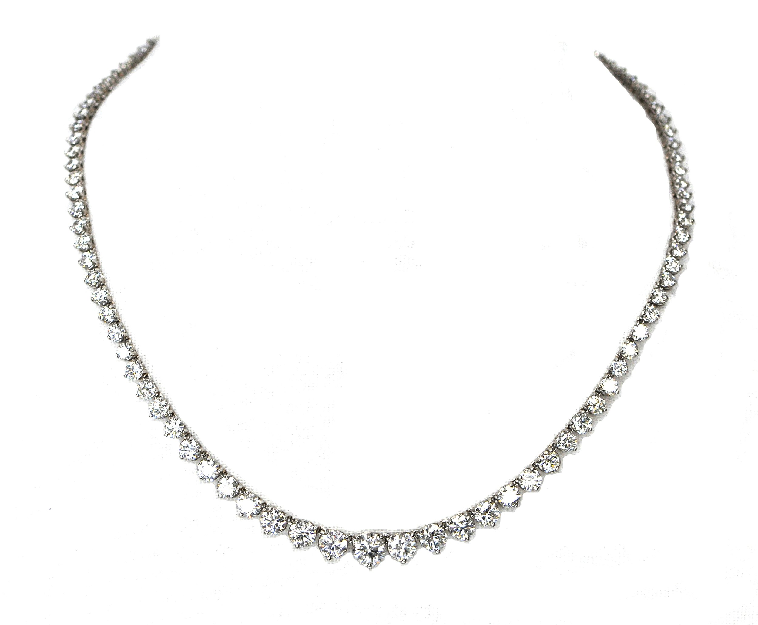 20ct Diamond Riviera Necklace