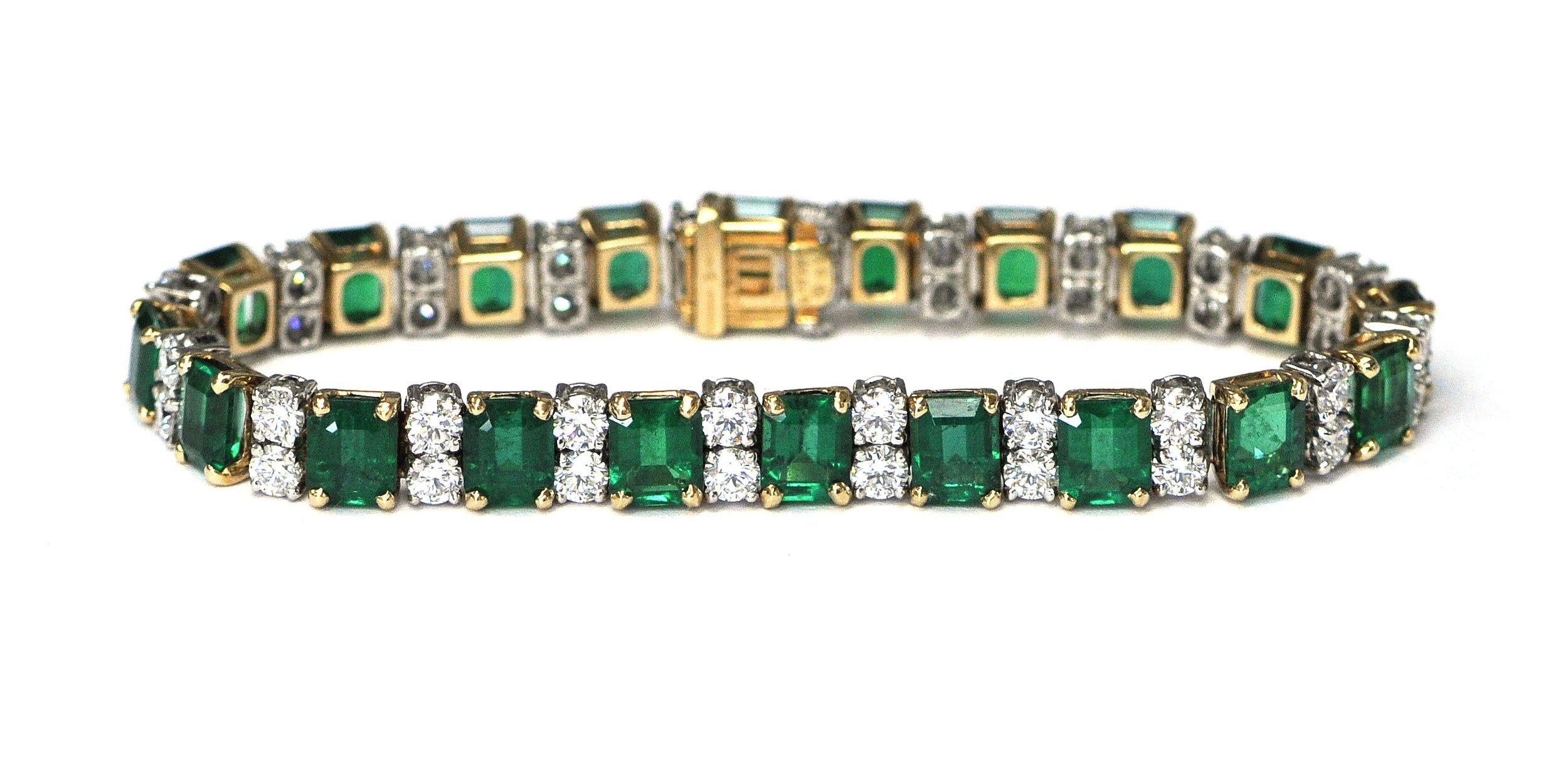 16ct Emerald & Diamond Heyman Bracelet