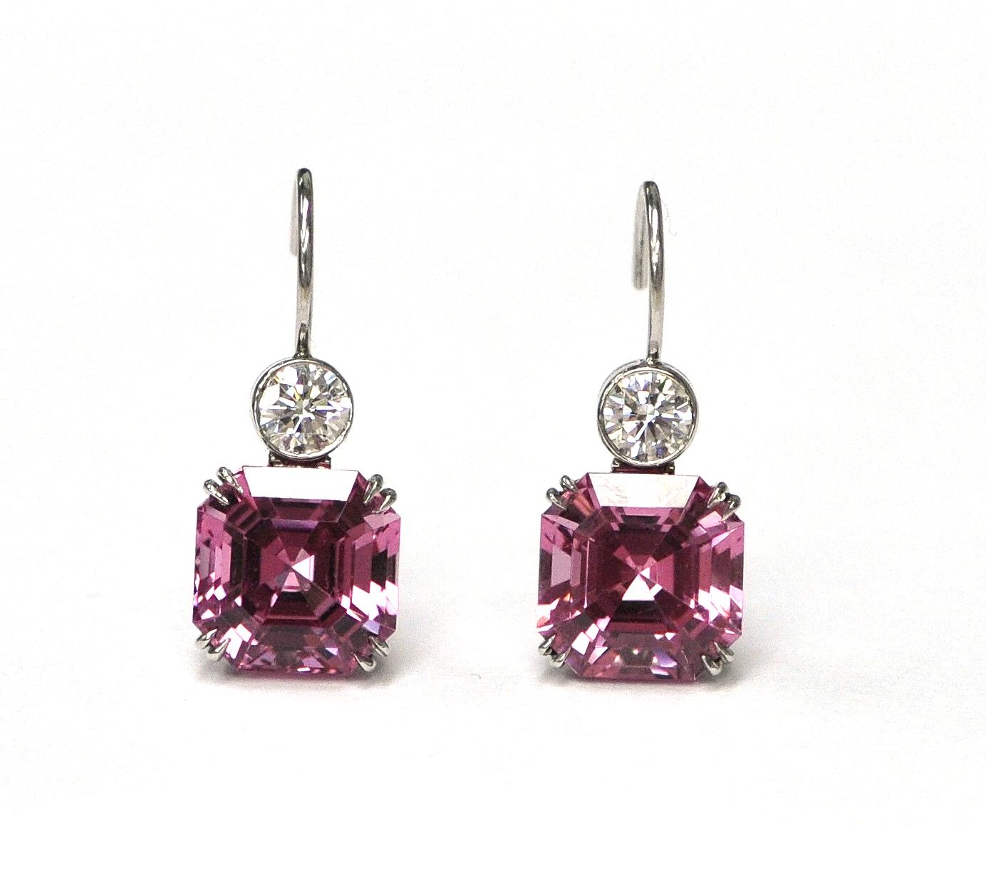 Spinel & Diamond Earrings
