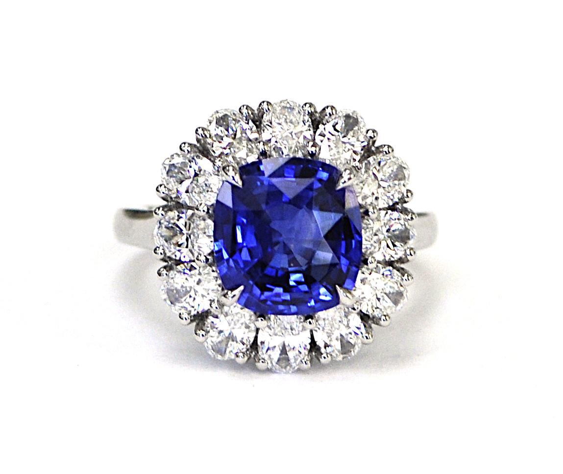 4ct Sapphire and Diamond RIng