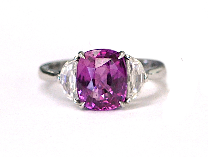 3.51ct Pink Sapphire Ring