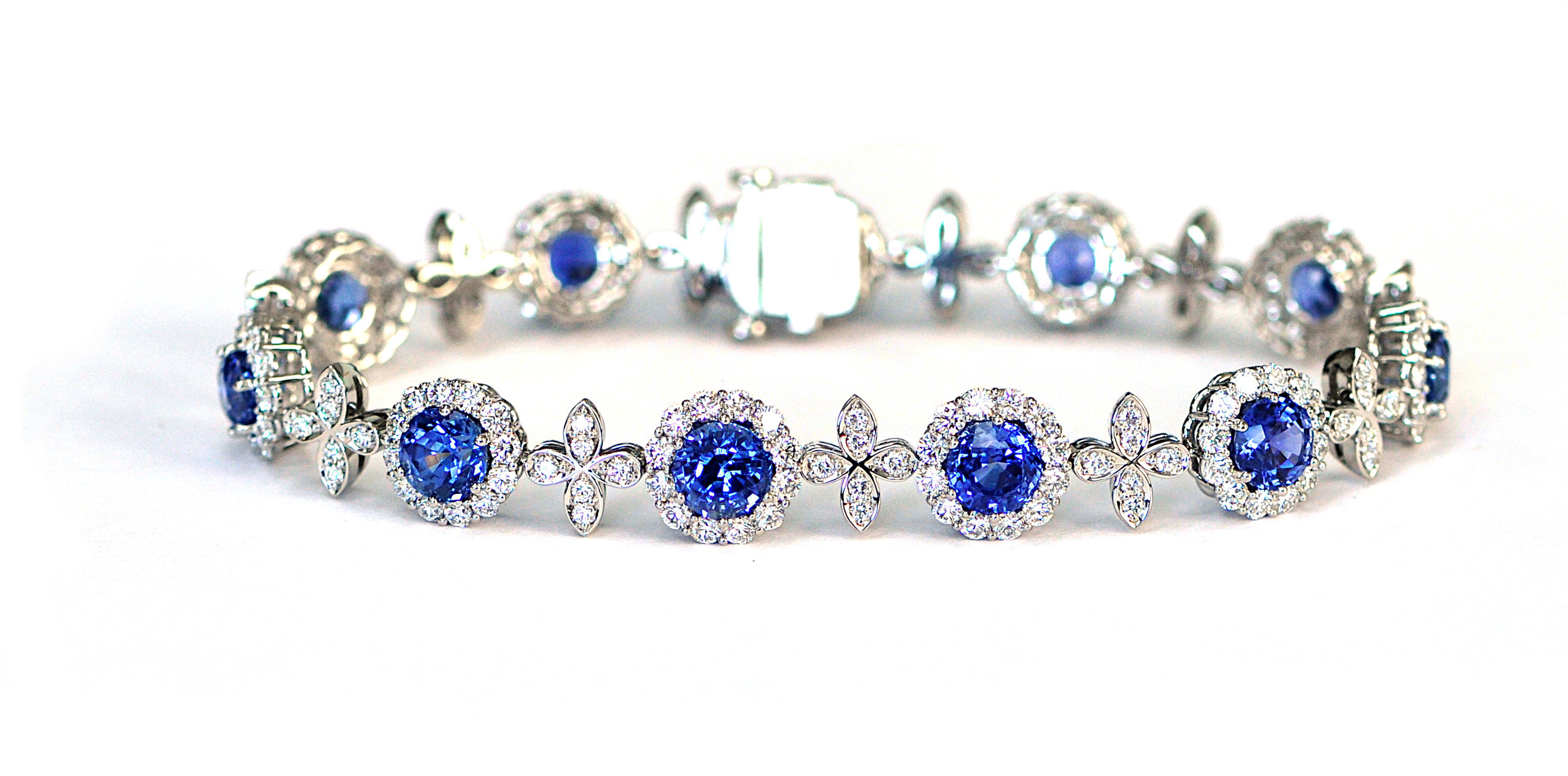 Unheated Sapphire Bracelet