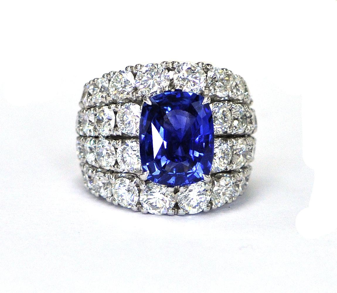 5.87ct Sapphire Ring