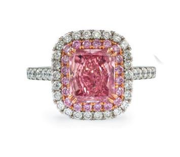 1.62ct Intense Pink Diamond Ring