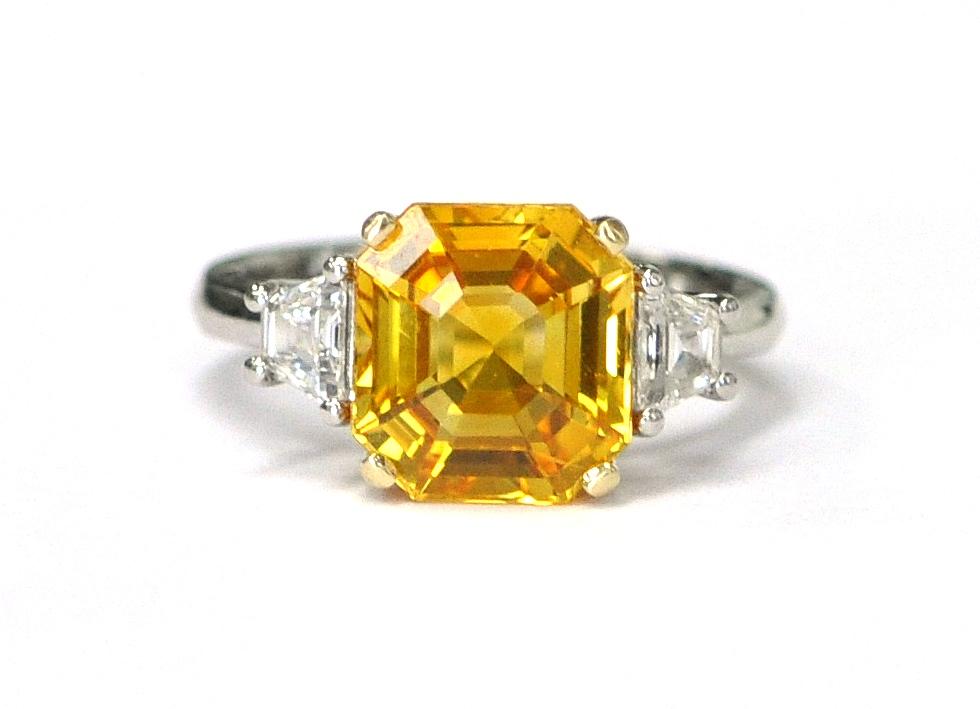 6.07ct Yellow Sapphire Ring