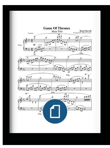 Game of Thrones Main Theme Sheet Music on Scribd