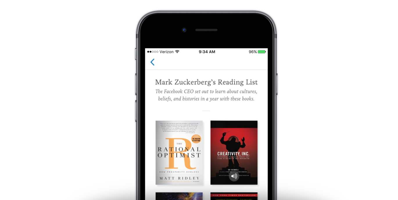 New Discovery—Featured Reading Lists