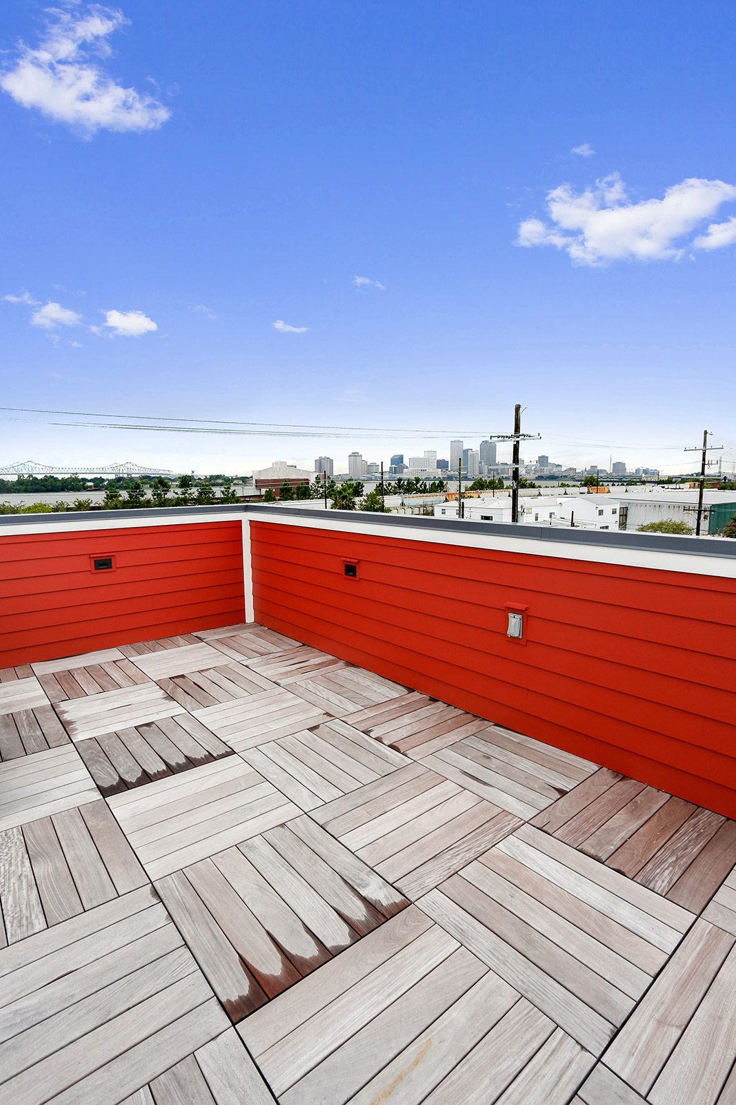 Roof Deck with View of New Orleans Skyline