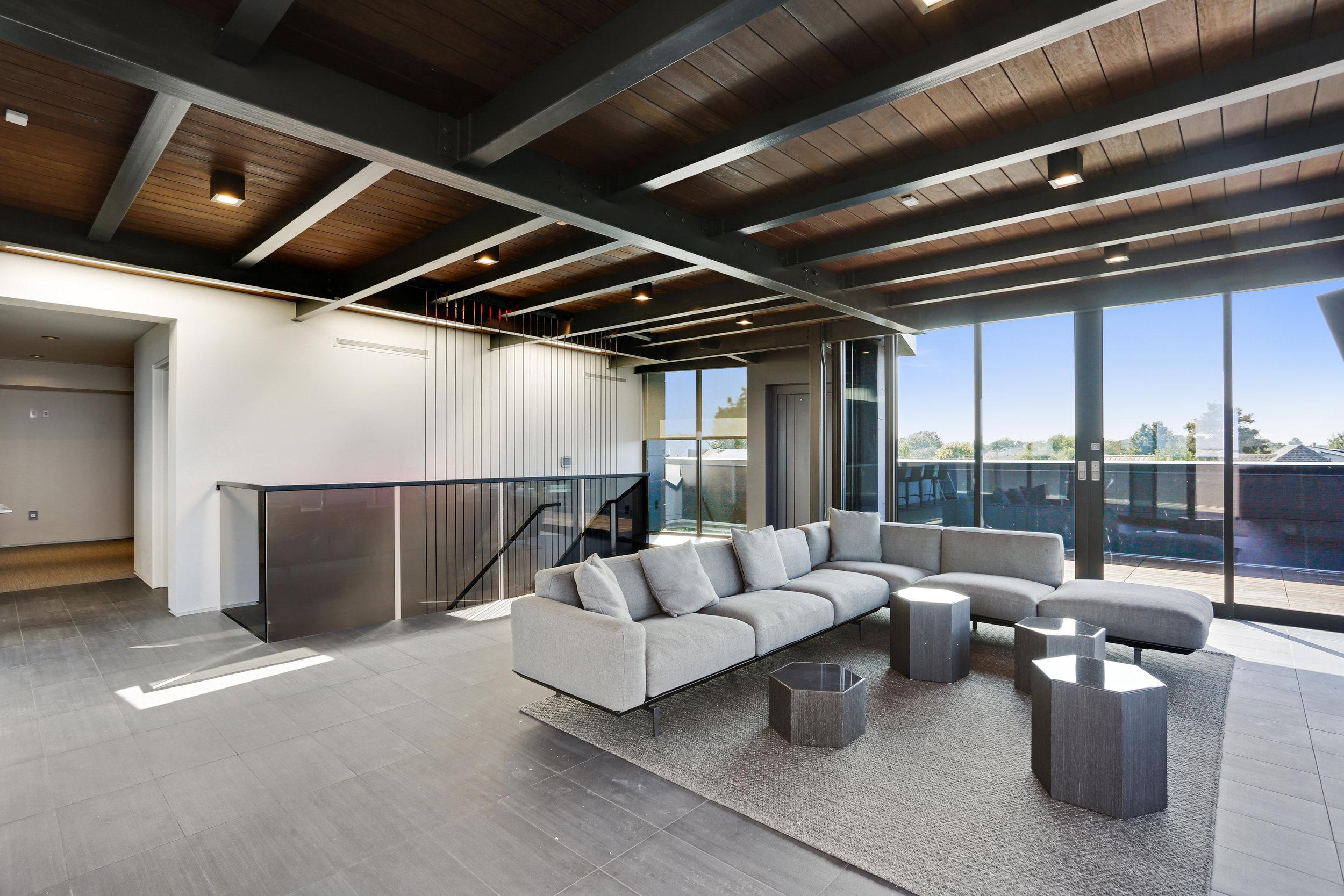 Modern Third Floor Living Room