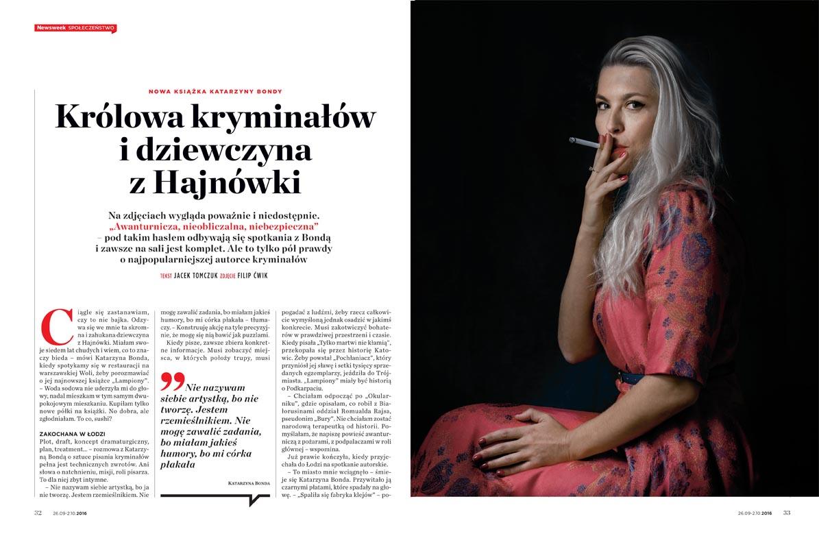 KATARZYNA BONDA FOR NEWSWEEK POLSKA 32/2016