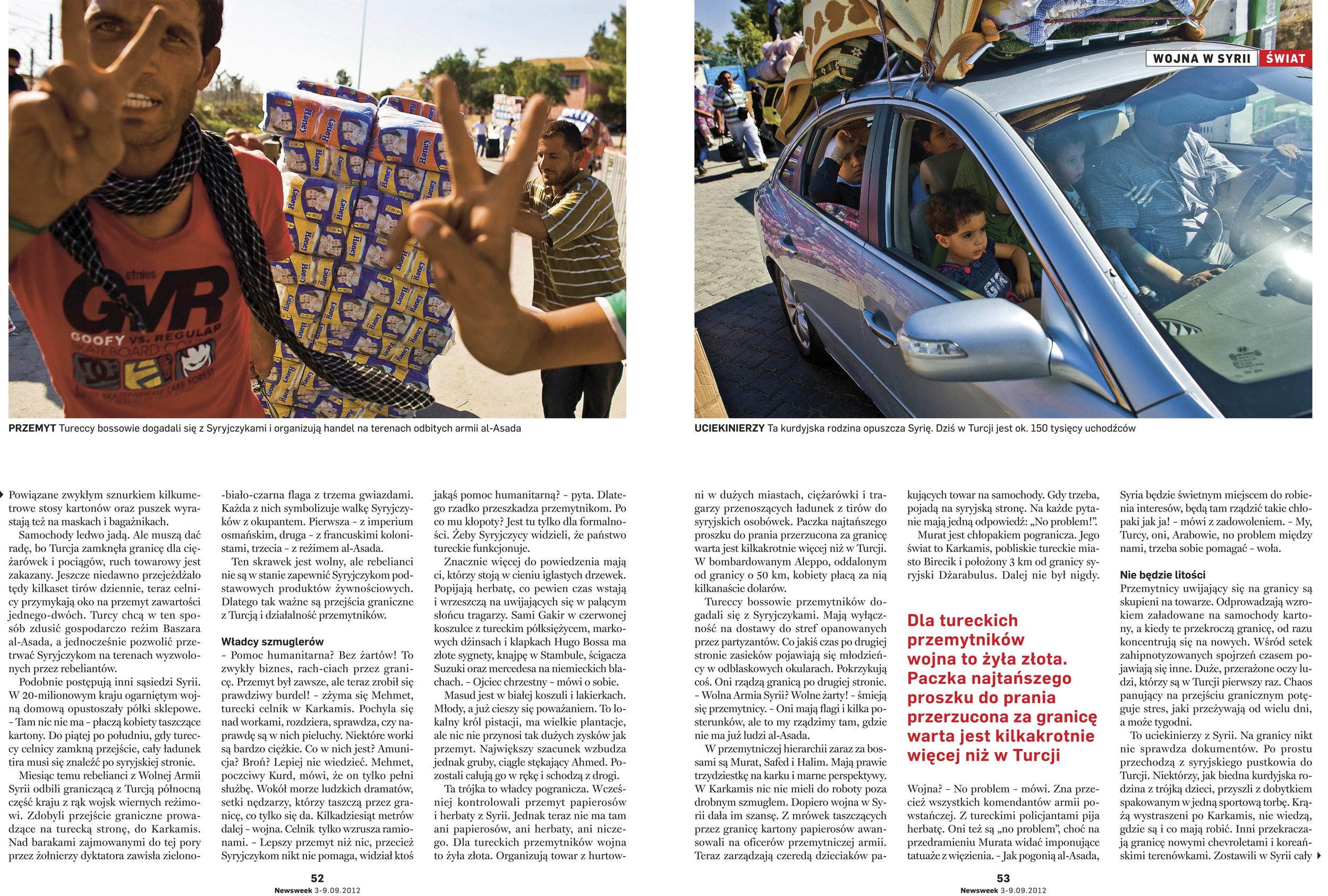 NEWSWEEK 2012 ON THE SYRIAN BORDER