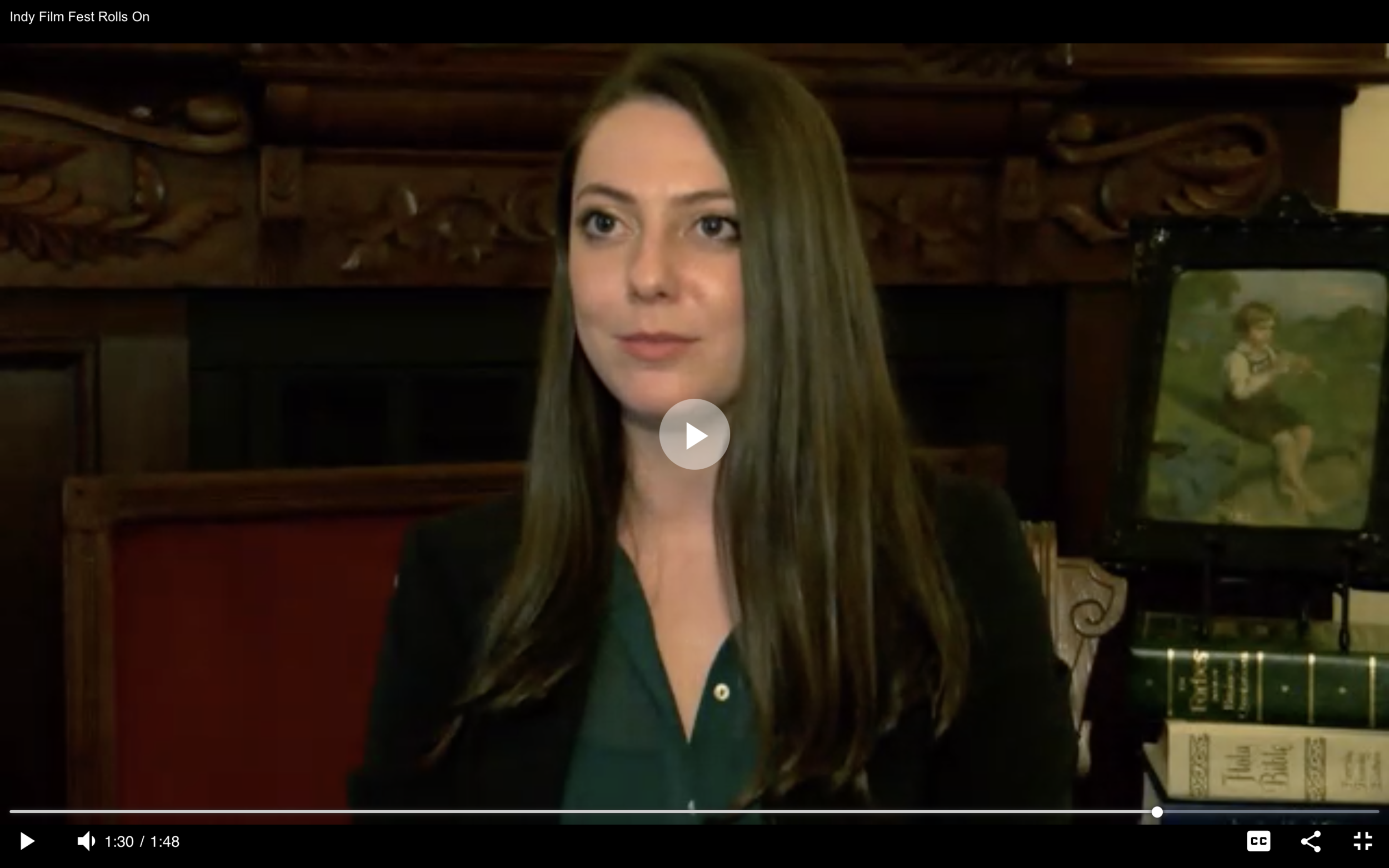 'Indy Film Fest Rolls On' by Mary Rachel Redman, Inside Indiana Business - Watch the Interview with Grace Hannoy!