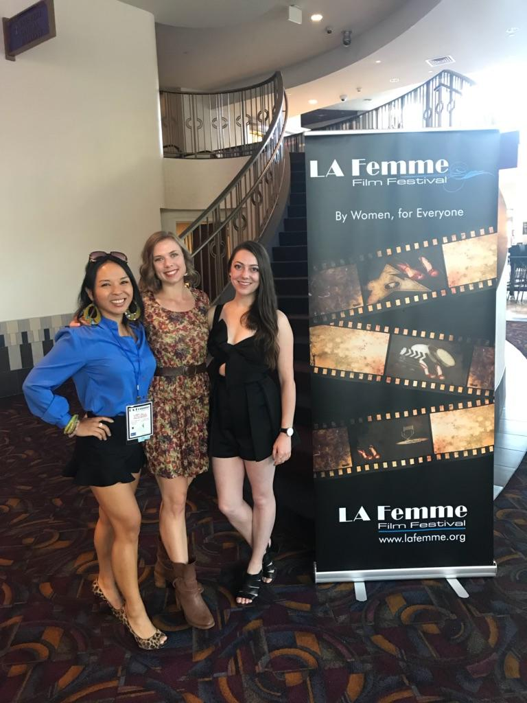 'LA Femme International Film Festival: Diverse All-Female Filmmaking Team' by Roger Lim, Entertainment Today - The all-female feature Diverse Filmmaking Team with a Multi-Cultural Cast Makes it's West Coast Debut at this weekend's LA Femme International Film Festival, and was led by Grace Hannoy (Producer/Writer/Actor), Zorinah Juan (Director), and Simone Stadler (Co-Producer), which highlighted the amazing diversity at this special event.