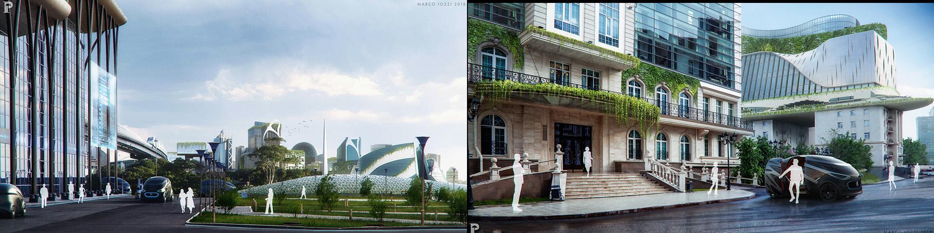 MERCEDES - Concept for future green city - PARASOL