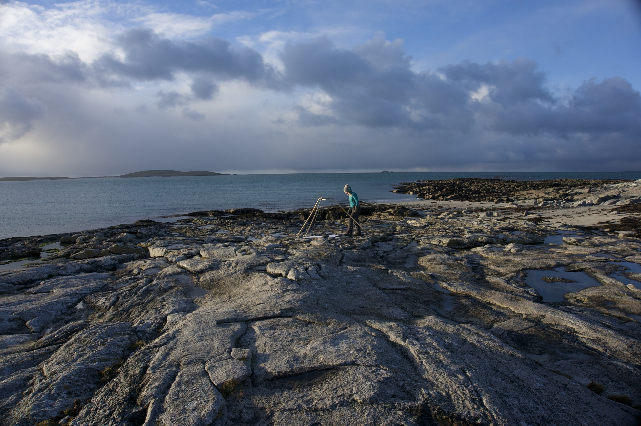 Wind Drawing, Isle of Berneray, Outer Hebrides, Scotland.