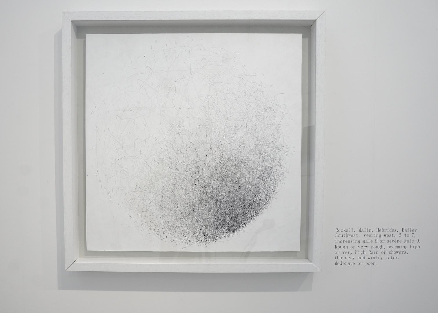 Meg Rodger -  Rockall, Malin, Hebrides, Bailey  (2016) (Ink on paper)