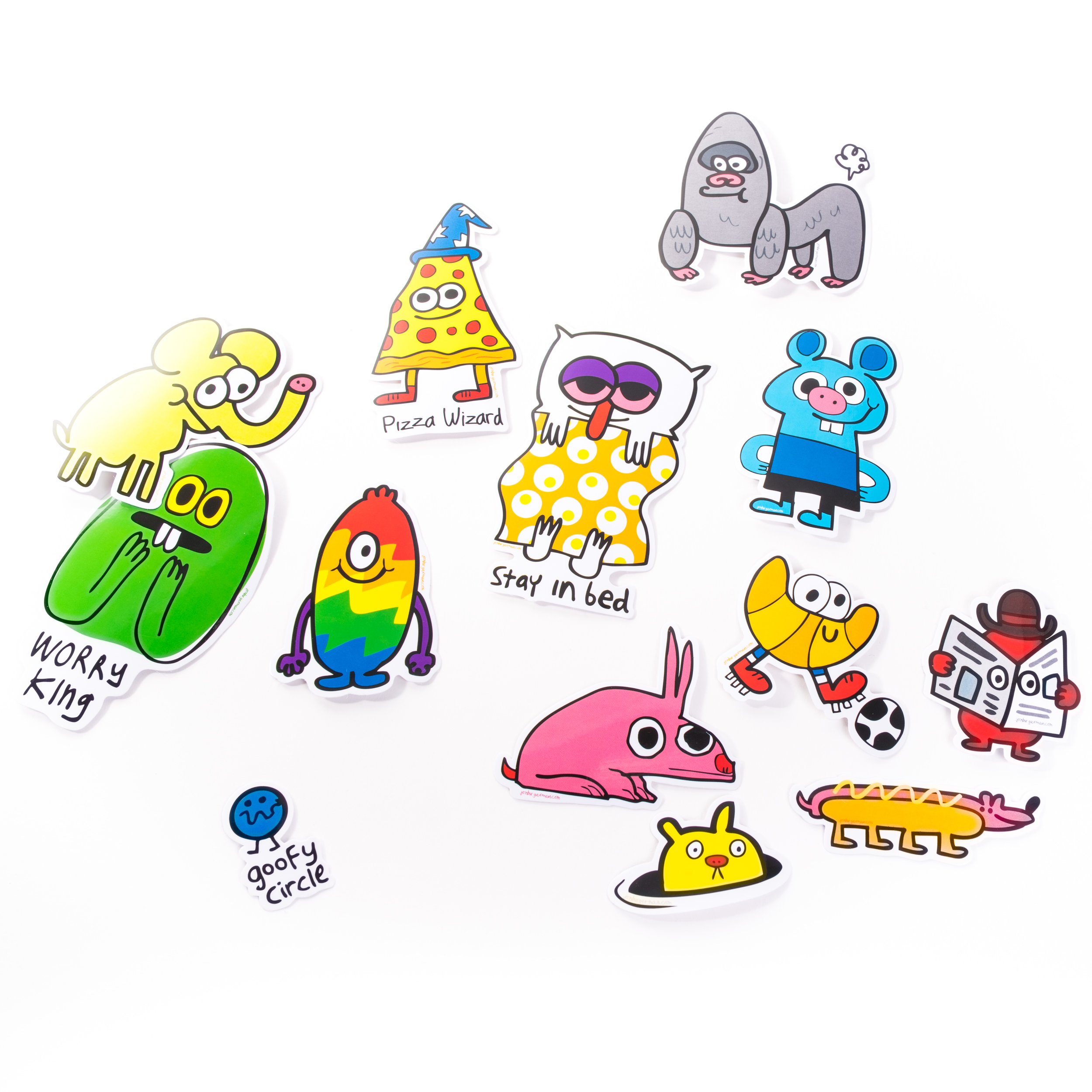 Jon Burgerman 2016 Sticker Collection