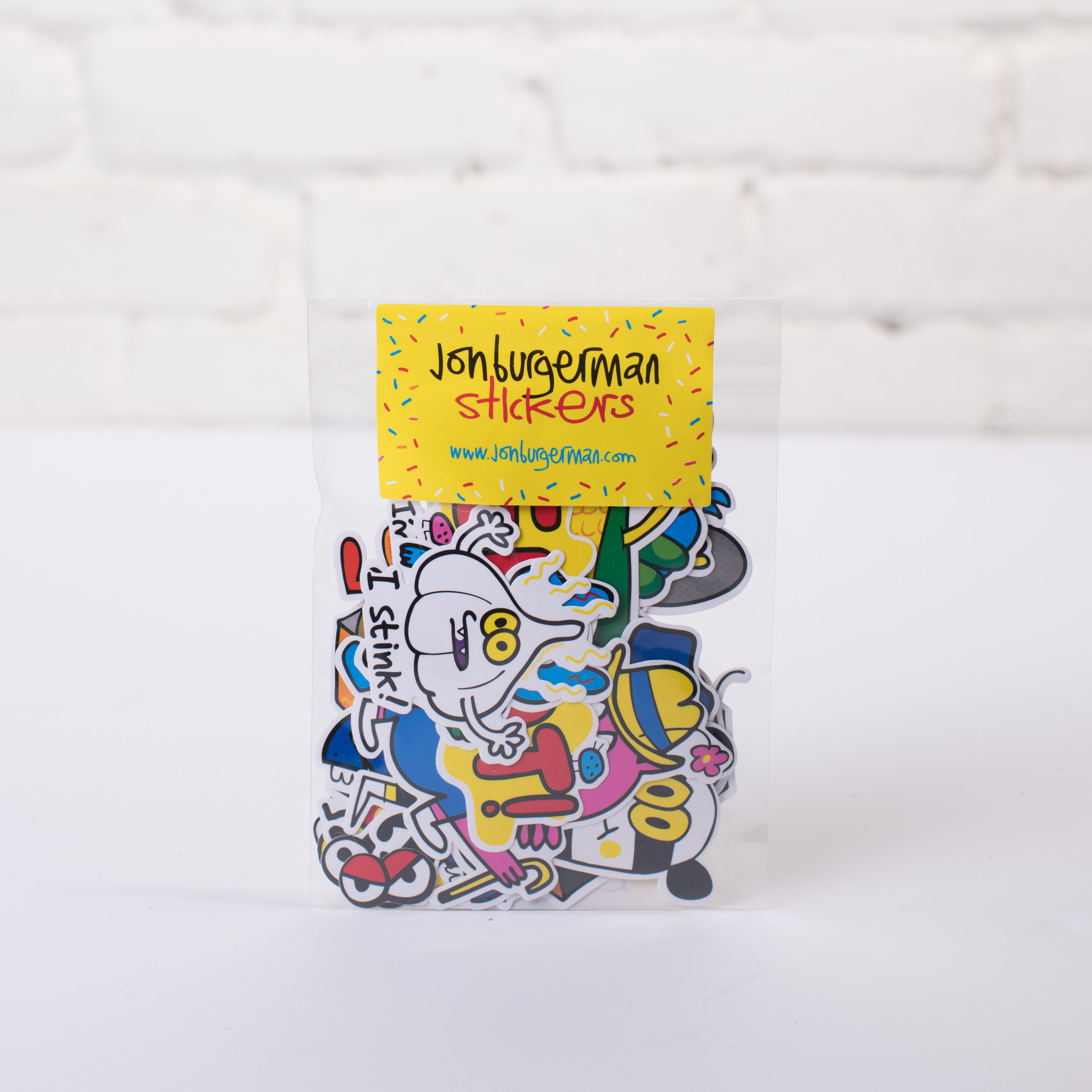 Jon Burgerman Holiday 2017 Sticker Pack