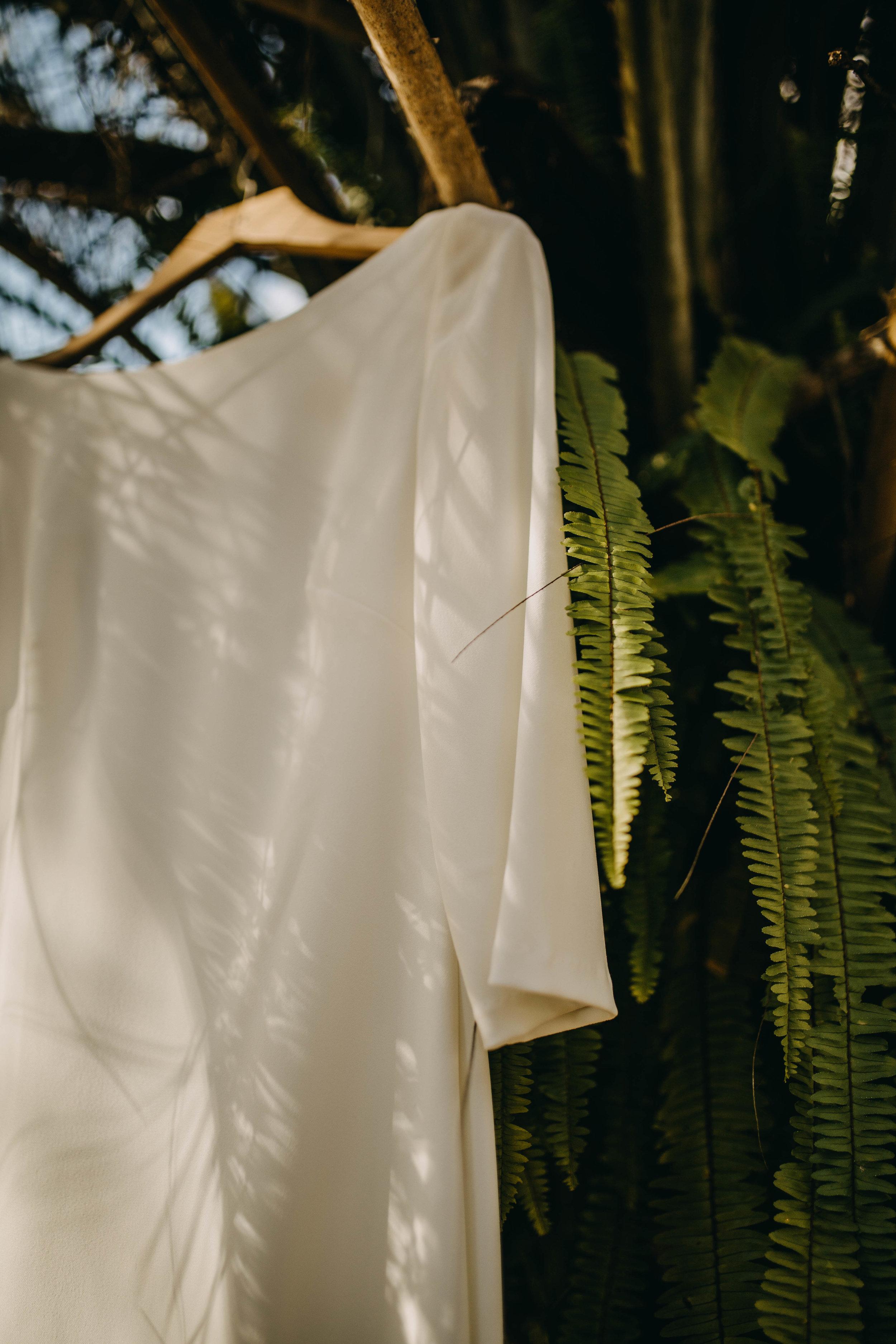 BHLDN Dress | American Traditional Tattoo Themed Eco Friendly Dark Florida Wedding
